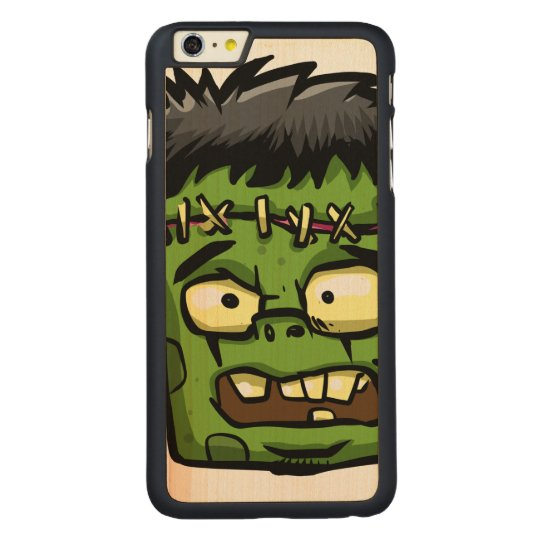 Baby frankenstein - baby frank - frank face carved maple iPhone 6 plus case