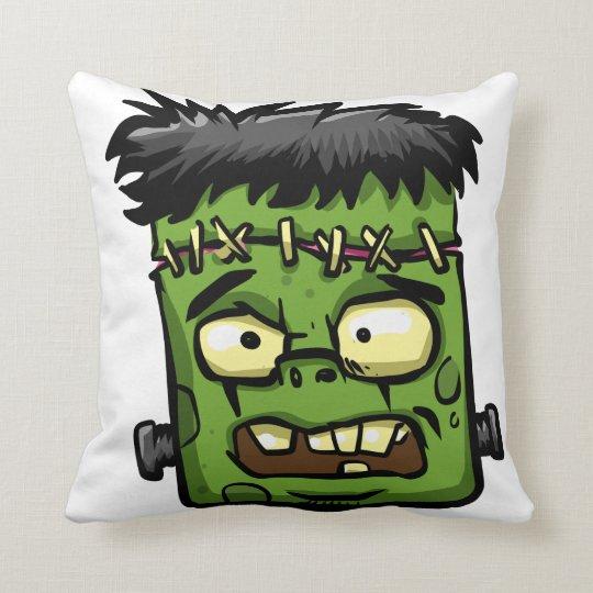 Baby frankenstein - baby frank - frank face cushion