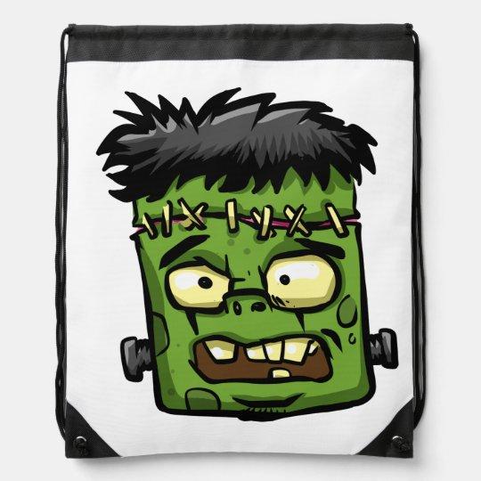 Baby frankenstein - baby frank - frank face drawstring bag