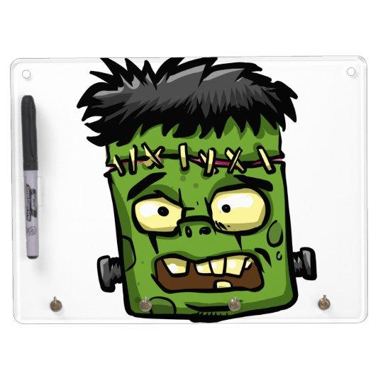 Baby frankenstein - baby frank - frank face dry erase board with key ring holder