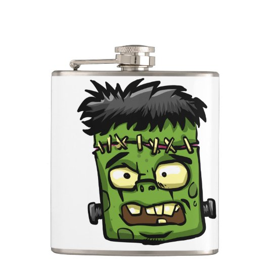 Baby frankenstein - baby frank - frank face hip flask