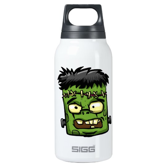 Baby frankenstein - baby frank - frank face insulated water bottle