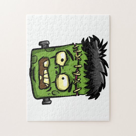 Baby frankenstein - baby frank - frank face jigsaw puzzle