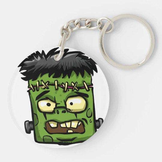Baby frankenstein - baby frank - frank face key ring