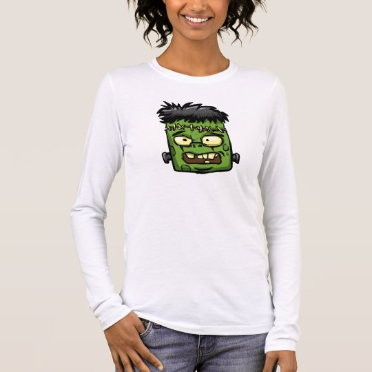 Baby frankenstein - baby frank - frank face long sleeve T-Shirt