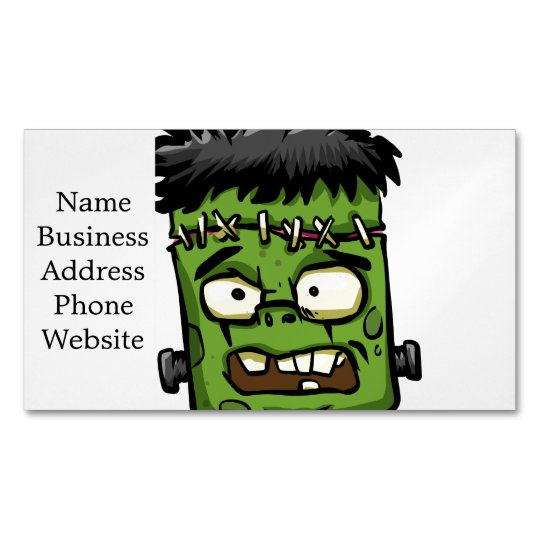 Baby frankenstein - baby frank - frank face 	Magnetic business card