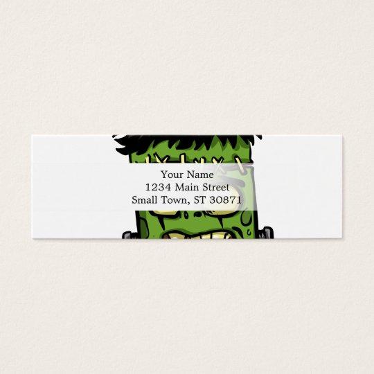 Baby frankenstein - baby frank - frank face mini business card