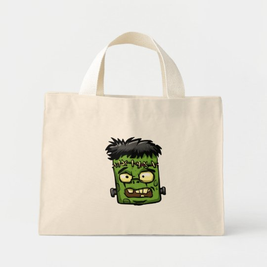 Baby frankenstein - baby frank - frank face mini tote bag