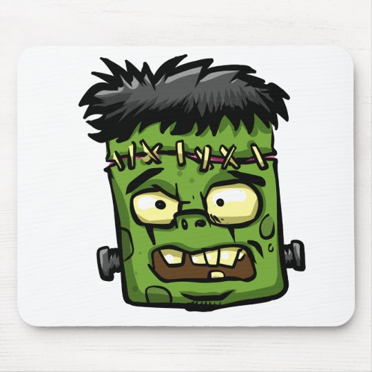 Baby frankenstein - baby frank - frank face mouse pad