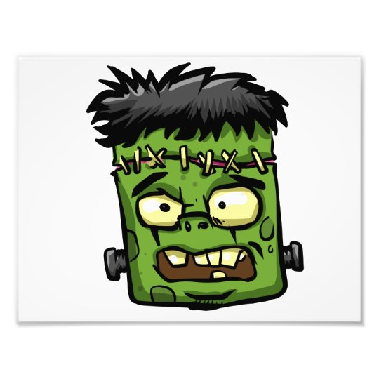 Baby frankenstein - baby frank - frank face photo print