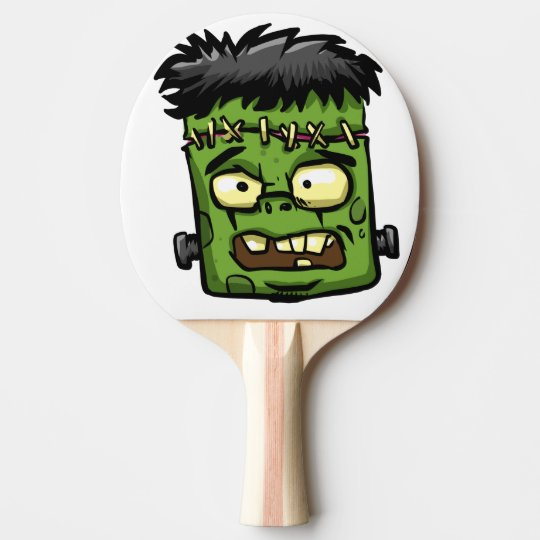 Baby frankenstein - baby frank - frank face ping pong paddle