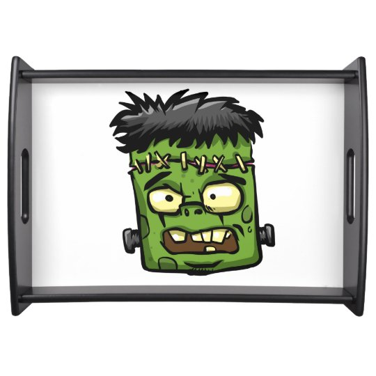 Baby frankenstein - baby frank - frank face serving tray
