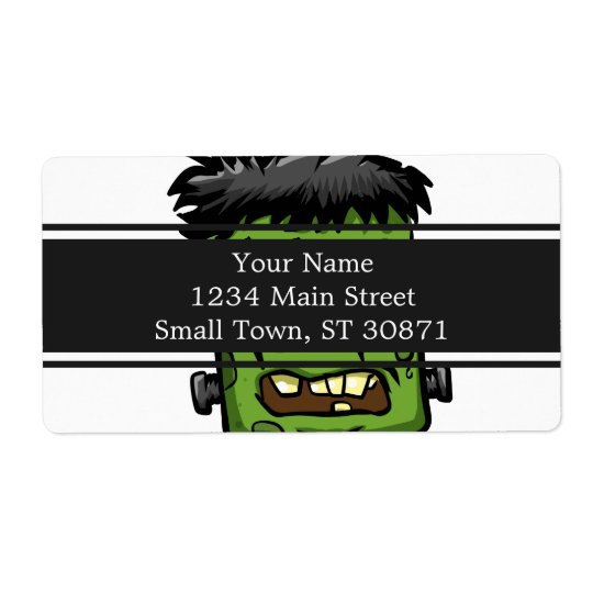 Baby frankenstein - baby frank - frank face shipping label