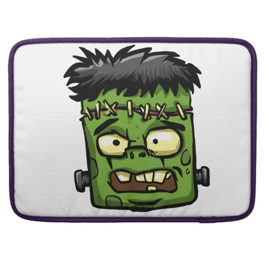 Baby frankenstein - baby frank - frank face sleeve for MacBooks