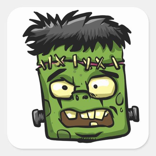 Baby frankenstein - baby frank - frank face square sticker