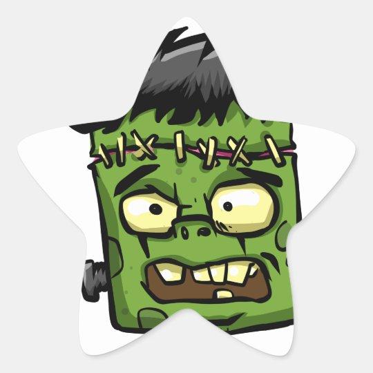 Baby frankenstein - baby frank - frank face star sticker