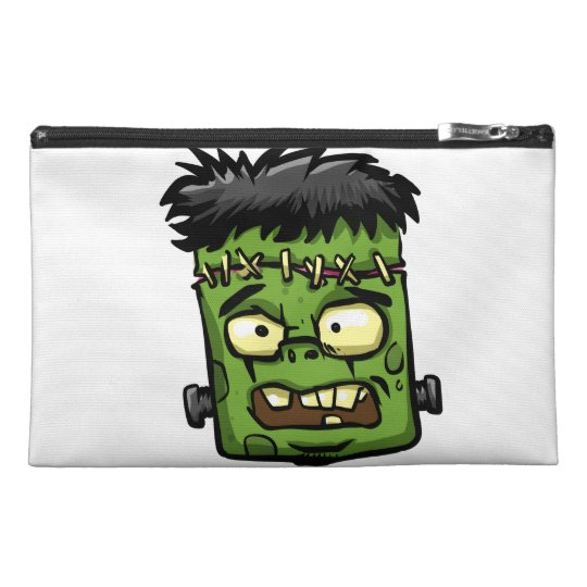 Baby frankenstein - baby frank - frank face travel accessory bag
