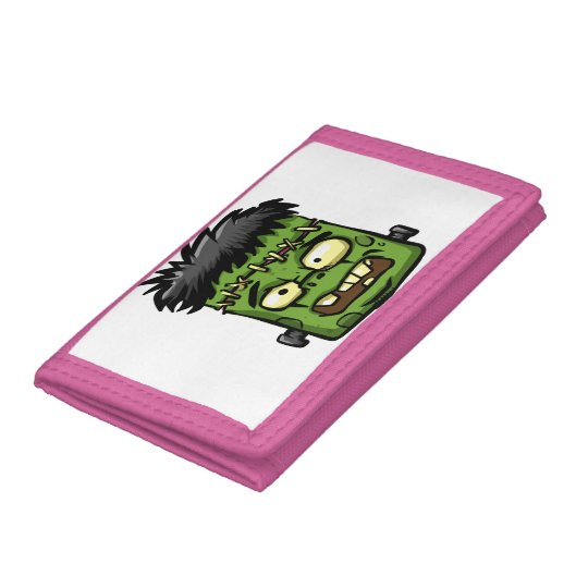Baby frankenstein - baby frank - frank face trifold wallets