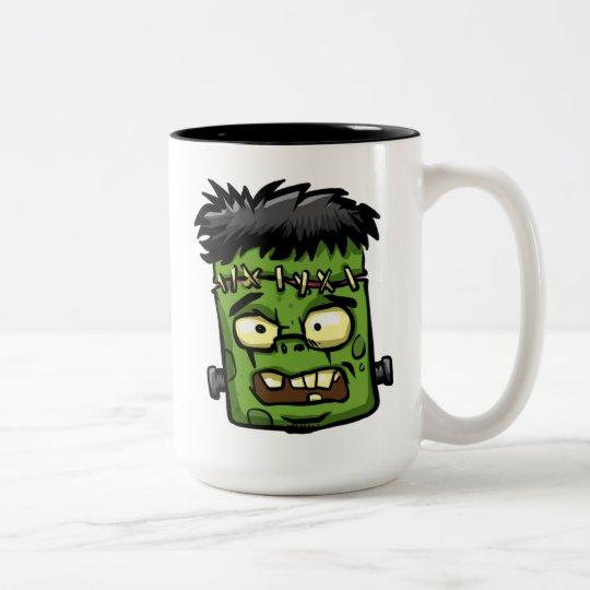 Baby frankenstein - baby frank - frank face Two-Tone coffee mug
