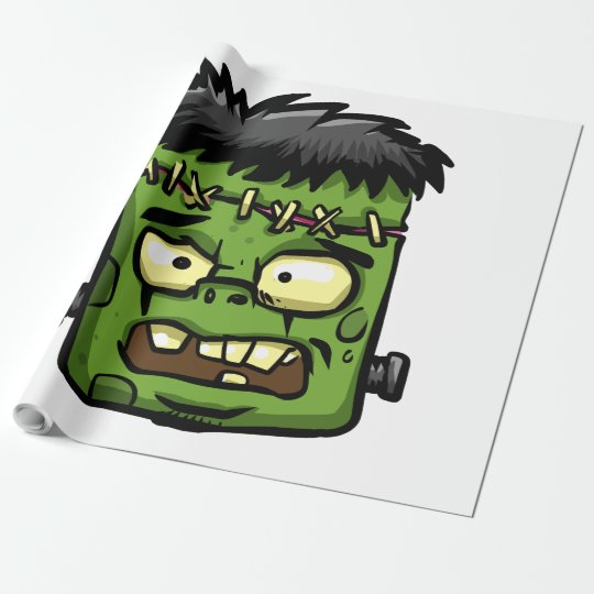 Baby frankenstein - baby frank - frank face wrapping paper