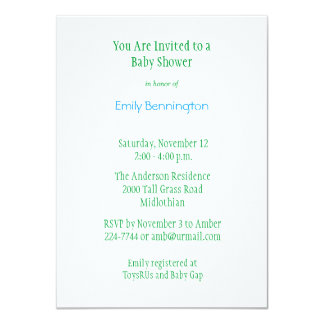 Baby Frogs Baby Shower Invitation