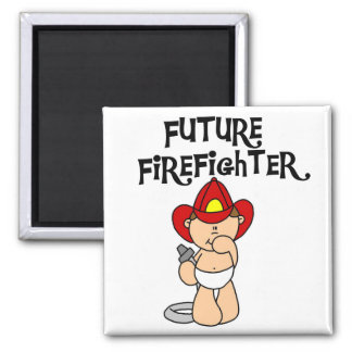 Baby Future Firefighter Tshirts and Gifts Fridge Magnets