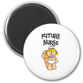 Baby Future Nurse 6 Cm Round Magnet