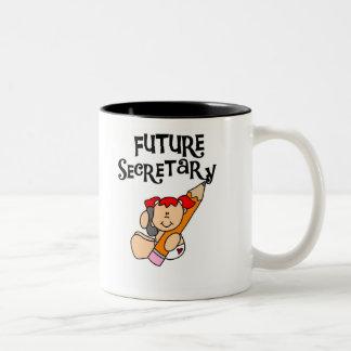 Baby Future Secretary Two-Tone Mug
