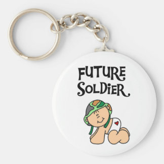 Baby Future Soldier Basic Round Button Key Ring