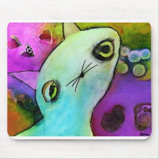 Baby Gato™ Cute Sad Glitter Eye Kitten Mouse Pad