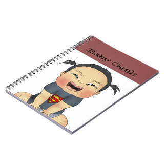 Baby Geek (Girl) Spiral Notebooks