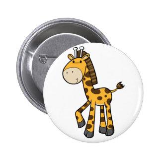 Baby Giraffe 6 Cm Round Badge