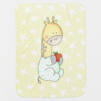 Baby Giraffe And Apple Baby Blanket