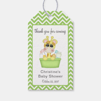 Baby Giraffe at Bath Time Thank You Favour