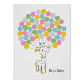 Baby Giraffe | Baby Shower Guest Book Print