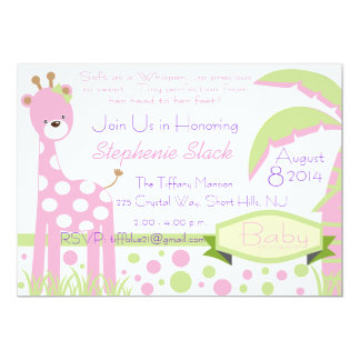 Baby Giraffe Baby Shower Invitation