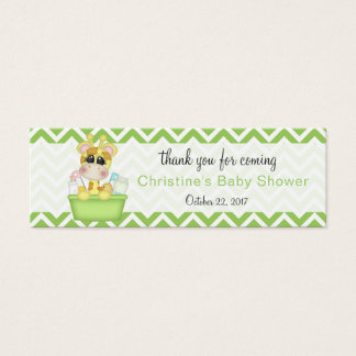 Baby Giraffe Baby Shower Thank You Favour Mini Business Card