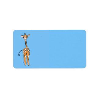 Baby Giraffe - blue Label