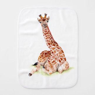 Baby Giraffe Burp Cloth