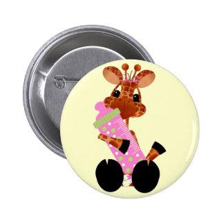 Baby Giraffe Button