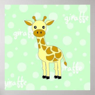Baby Giraffe Cute Poster / Print