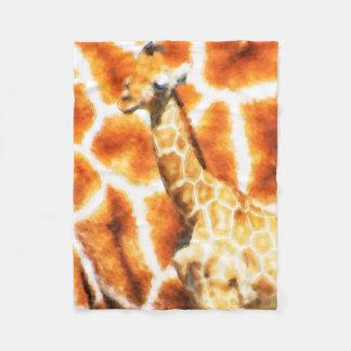 Baby Giraffe Fleece Blanket