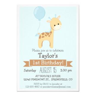 Baby Giraffe Kid's Birthday Party Invitation
