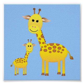 Baby Giraffe/ Nursery Decor Poster