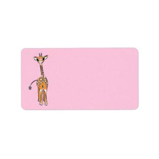 Baby Giraffe - pink Label
