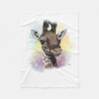 Baby Giraffe Smiling Fleece Blanket