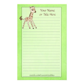Baby Giraffe Stationery