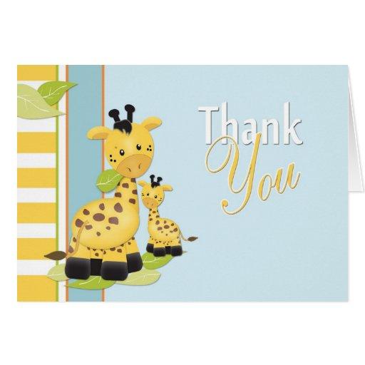 Baby Giraffe Thank You Card