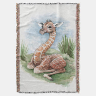 Baby Giraffe Throw Blanket
