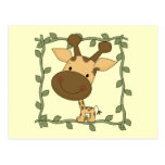 Baby Giraffe Tshirts and Gifts Postcard